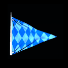 Blue Chequered Flag